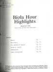 Biola Hour Highlights, 1976 - 07