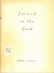 Joined in the Lord by Martha S. Hooker