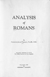 Analysis of Romans by Chester J. Padgett