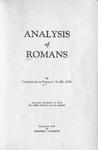 Analysis of Romans