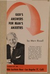 God's Answers for Man's Anxieties by Merv Rosell