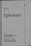Lectures on Ephesians