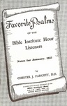 Favorite Psalms of the Biola Institute Hour Listeners: Notes for January, 1957