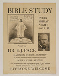 Bible Study Taught by DR. E.J. Pace