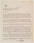 1947-04-26, Letter from Charles Roberts to Louis Talbot by Charles Roberts