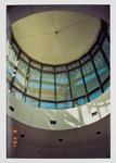 View from the upper level to the bottom of the lantern by Library