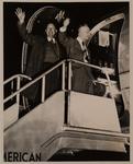 Talbot and Davis Boarding Airplane
