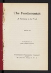 The Fundamentals : a testimony to the truth Vol. 3